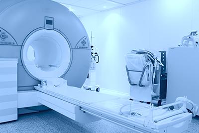 room with MRI machine.